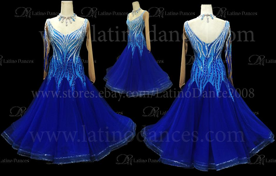 BALLROOM / STANDARD DRESS WITH HIGH QUALITY STONES ST204