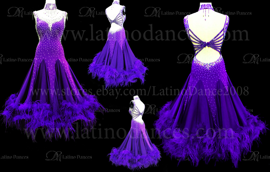 BALLROOM / STANDARD DRESS WITH HIGH QUALITY STONES ST206