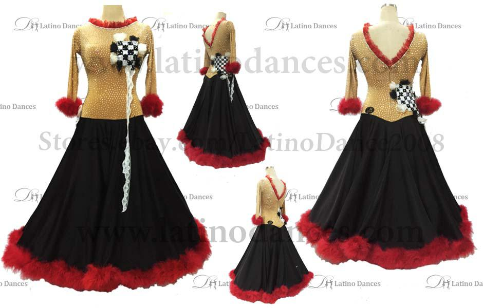 Ballroom Competition Smooth Dance Tailored Dress With High Quality stones ST208