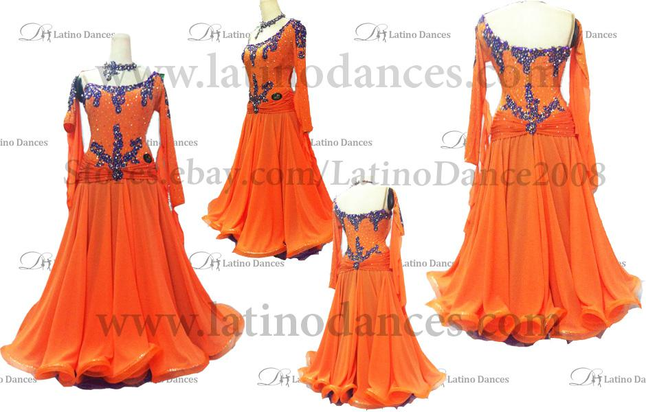 Ballroom Competition Smooth Dance Tailored Dress With High Quality stones ST209