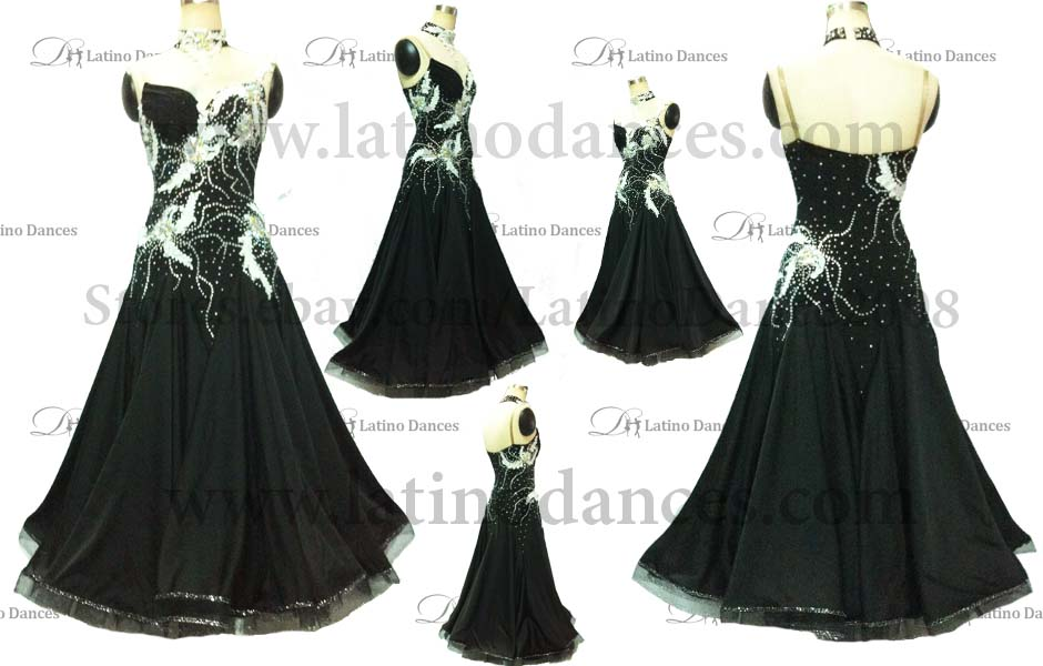 Ballroom Competition Smooth Dance Tailored Dress With High Quality stones ST210