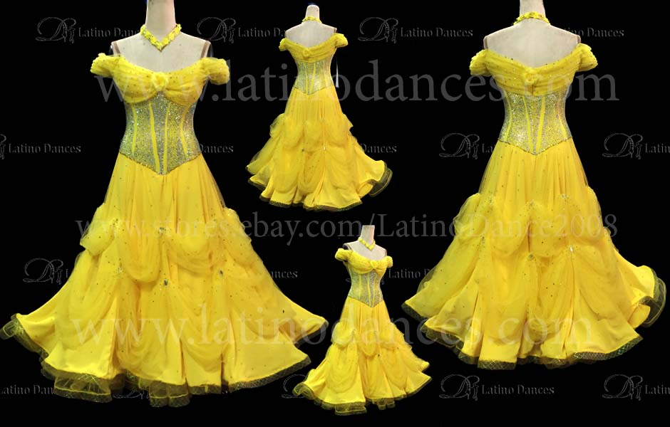 Ballroom Competition Smooth Dance Tailored Dress With High Quality stones ST212