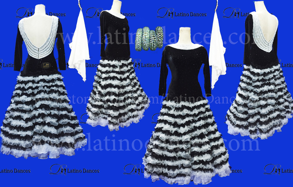 Ballroom Competition Smooth Dance Tailored Dress With High Quality stones ST215