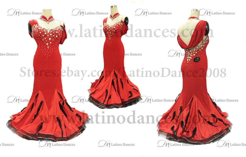 Ballroom Competition Smooth Dance Tailored Dress With High Quality stones ST216