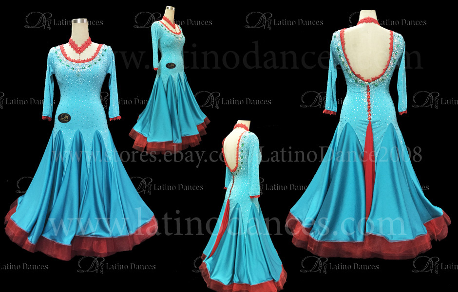 Ballroom Competition Smooth Dance Tailored Dress With High Quality stones ST217