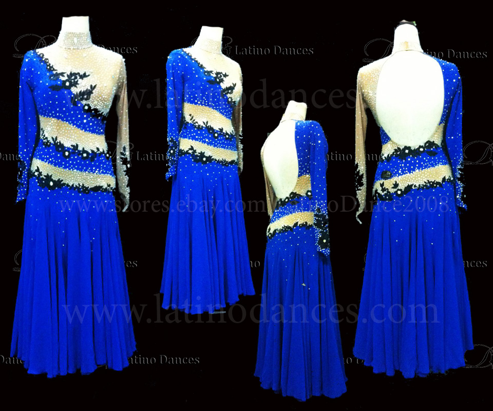 Ballroom Competition Smooth Dance Tailored Dress With High Quality stones ST219