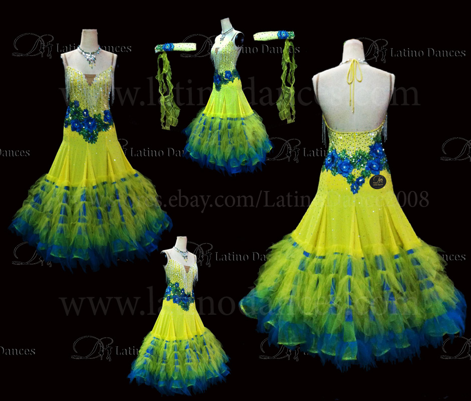 Ballroom Competition Smooth Dance Tailored Dress With High Quality stones ST221