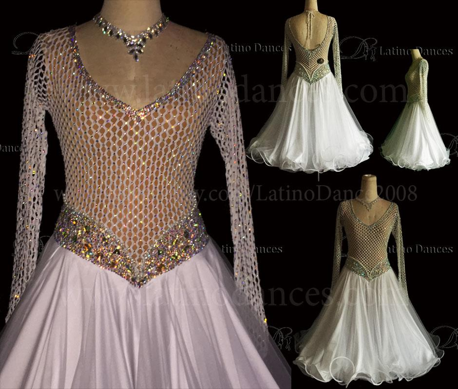 Ballroom Competition Smooth Dance Tailored Dress With High Quality stones ST222