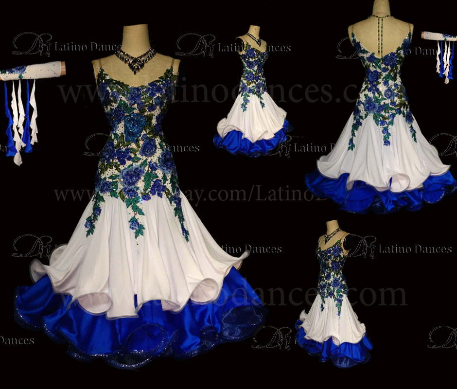 Ballroom Competition Smooth Dance Tailored Dress With High Quality stones ST223A