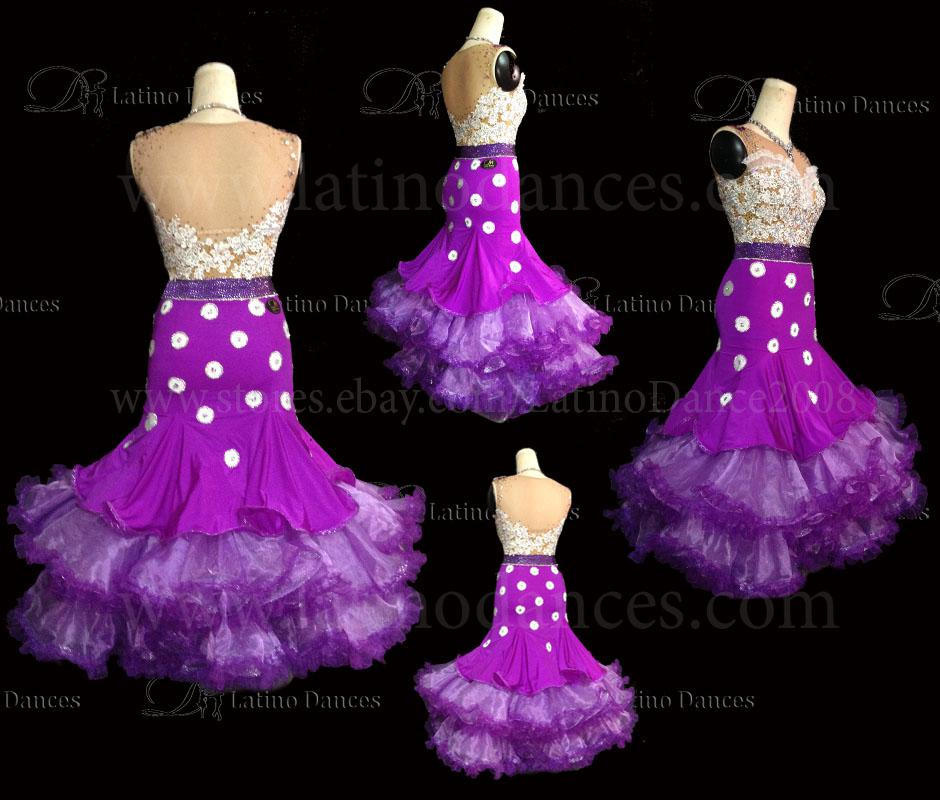Ballroom Competition Smooth Dance Tailored Dress With High Quality stones ST225