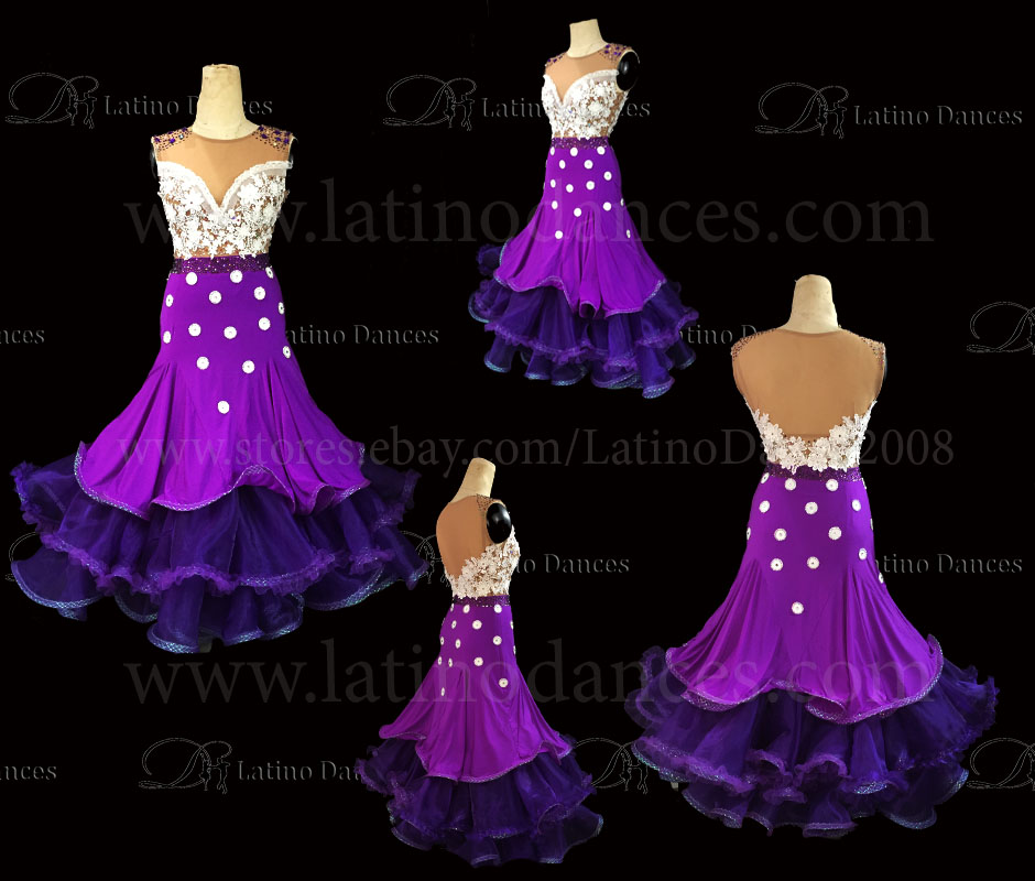Ballroom Competition Smooth Dance Tailored Dress With High Quality stones ST225B