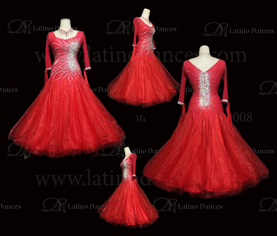 Ballroom Competition Smooth Dance Tailored Dress With High Quality stones ST228