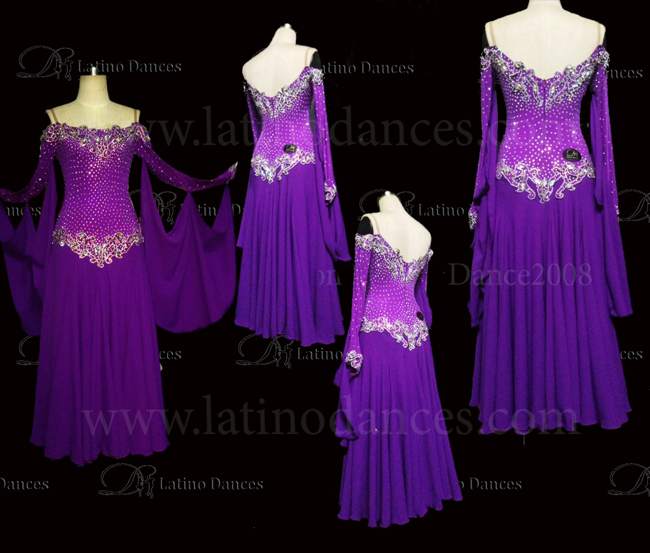 Ballroom Competition Smooth Dance Tailored Dress With High Quality stones ST229