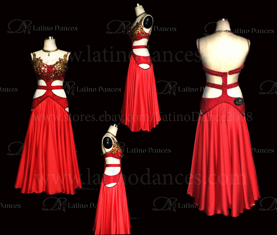 Ballroom Competition Smooth Dance Tailored Dress With High Quality stones ST230