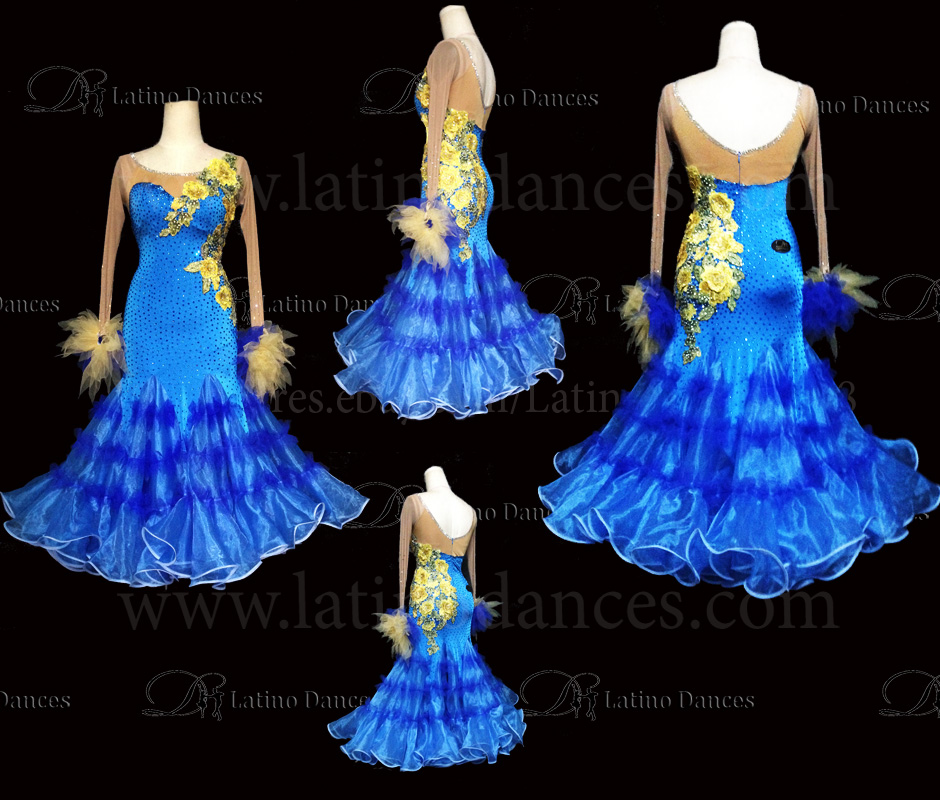 Ballroom Competition Smooth Dance Tailored Dress With High Quality stones ST231
