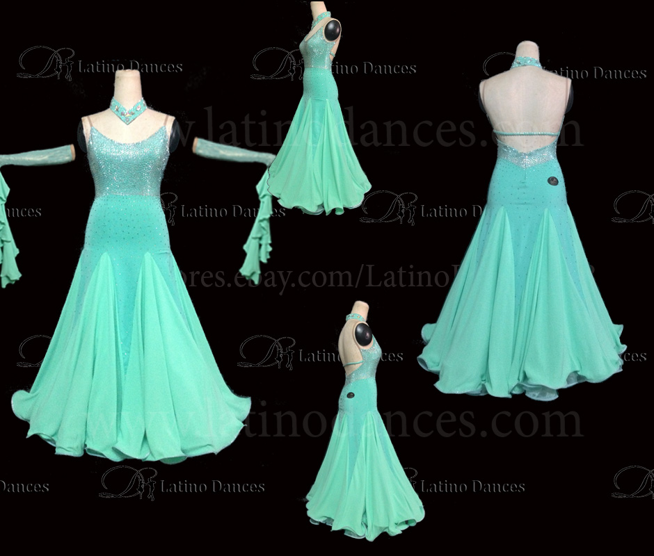 Ballroom Competition Smooth Dance Tailored Dress With High Quality stones ST233