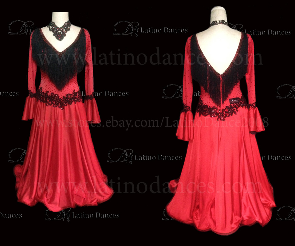Ballroom Competition Smooth Dance Tailored Dress With High Quality stones ST234