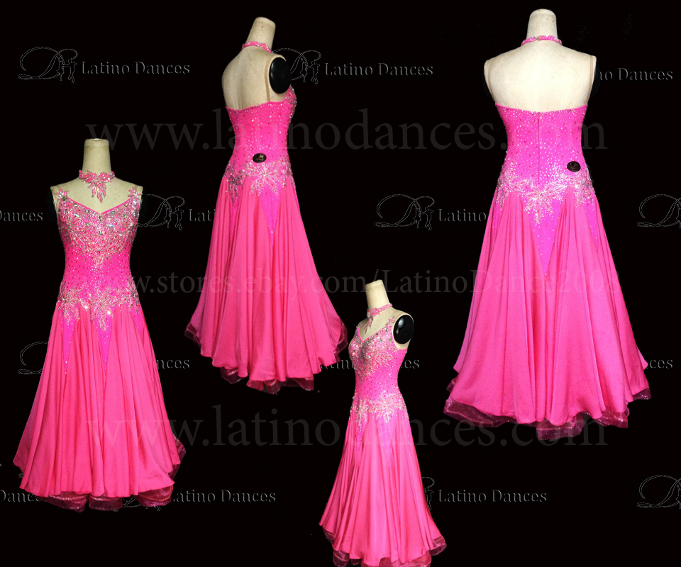 Ballroom Competition Smooth Dance Tailored Dress With High Quality stones ST235