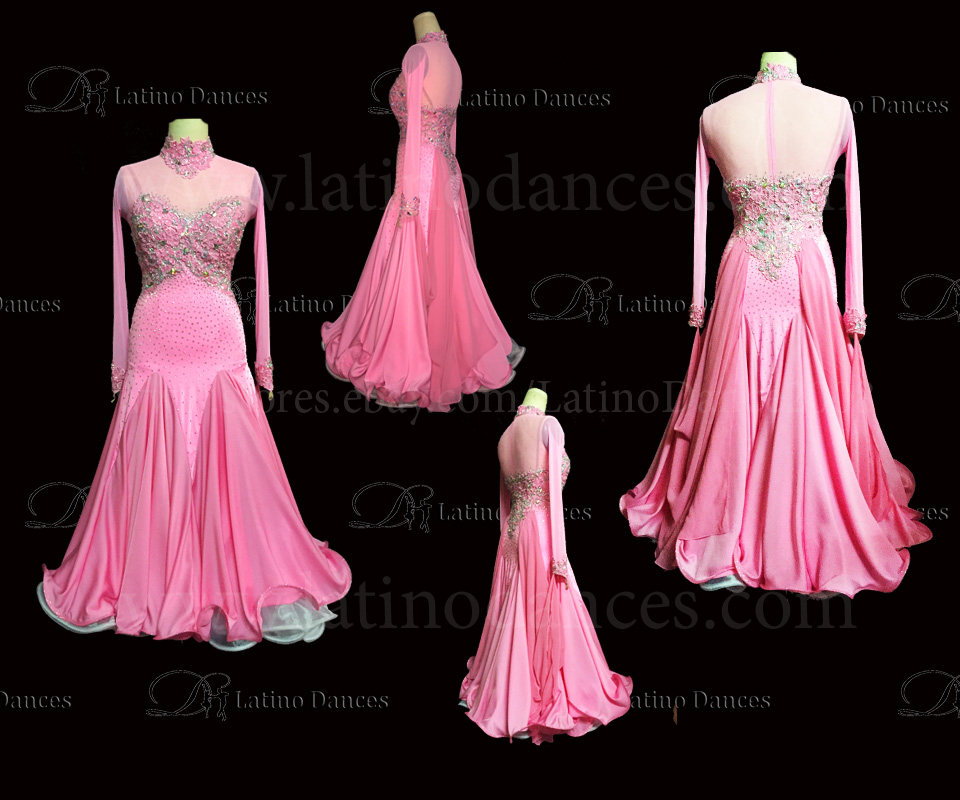 Ballroom Competition Smooth Dance Tailored Dress With High Quality stones ST236