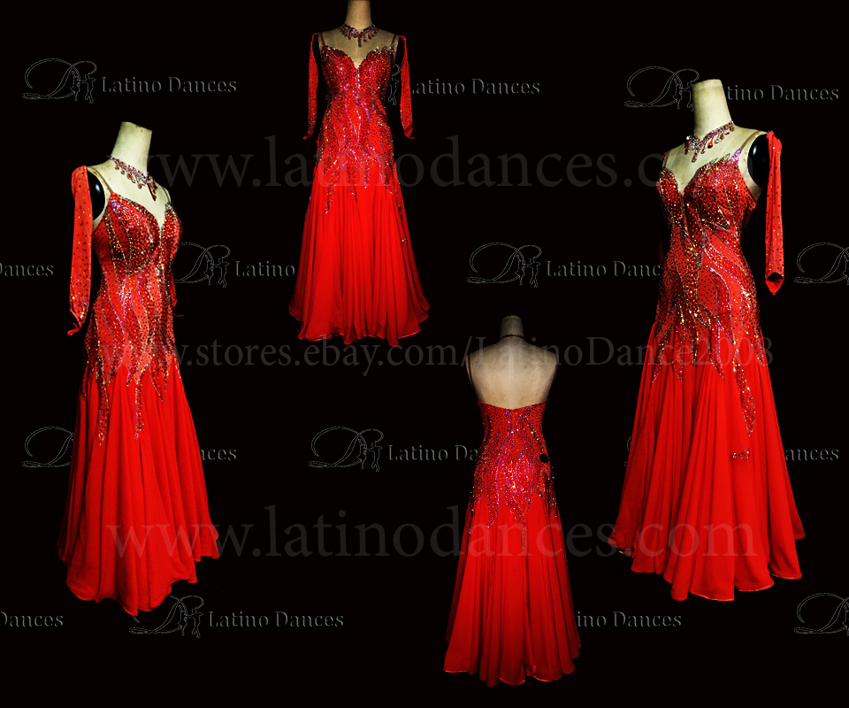 Ballroom Competition Smooth Dance Tailored Dress With High Quality stones ST237