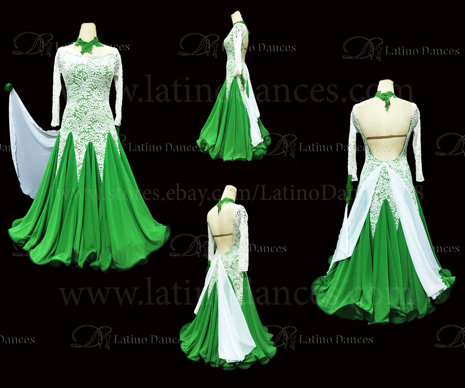 Ballroom Competition Smooth Dance Tailored Dress With High Quality stones ST238