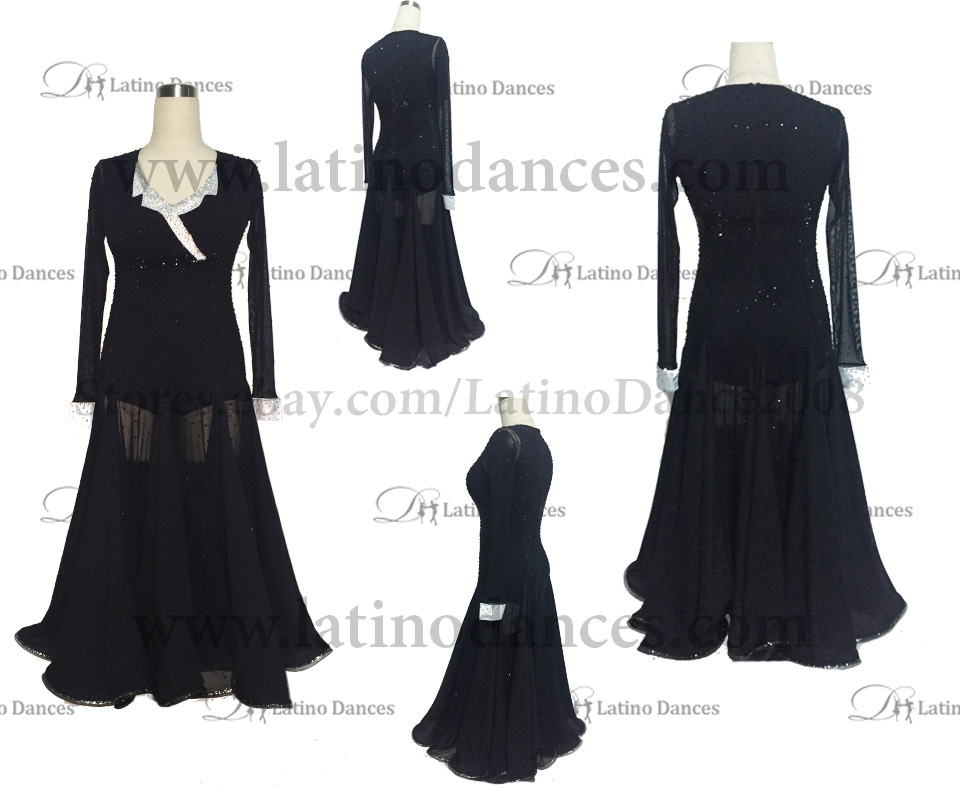 Ballroom Competition Smooth Dance Tailored Dress With High Quality stones ST239