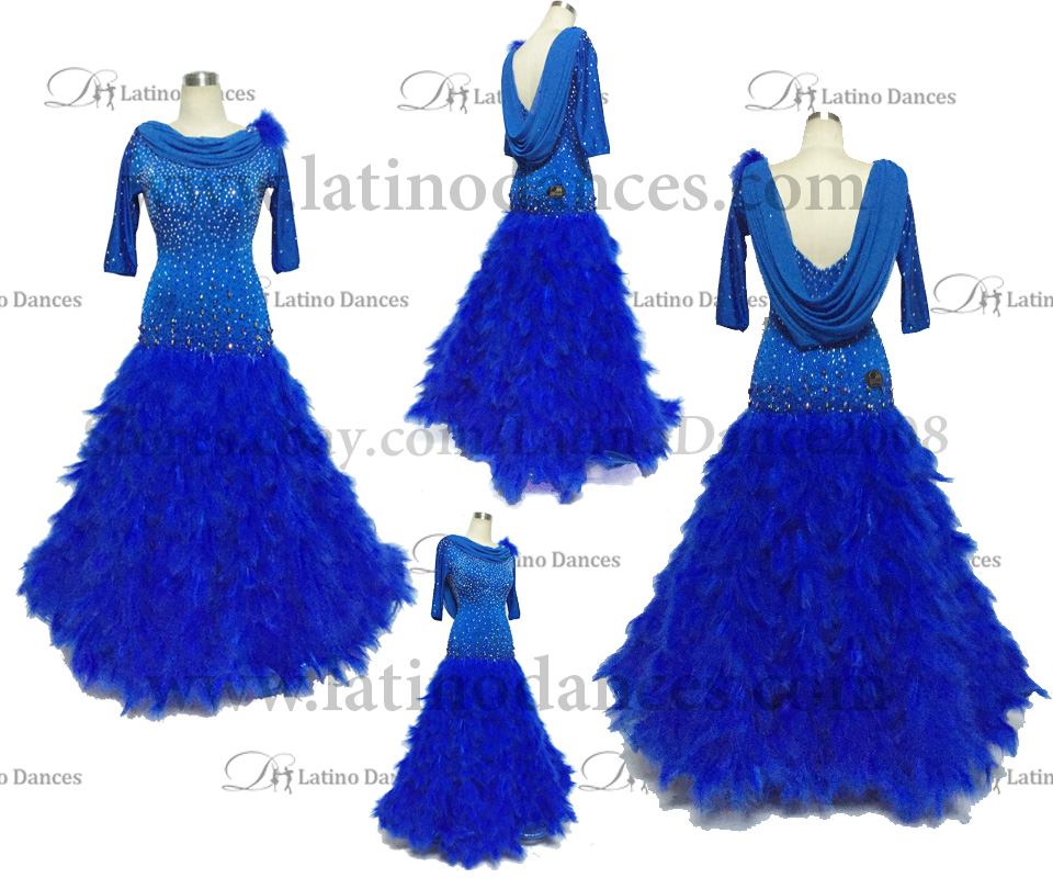 Ballroom Competition Smooth Dance Tailored Dress With High Quality stones ST240
