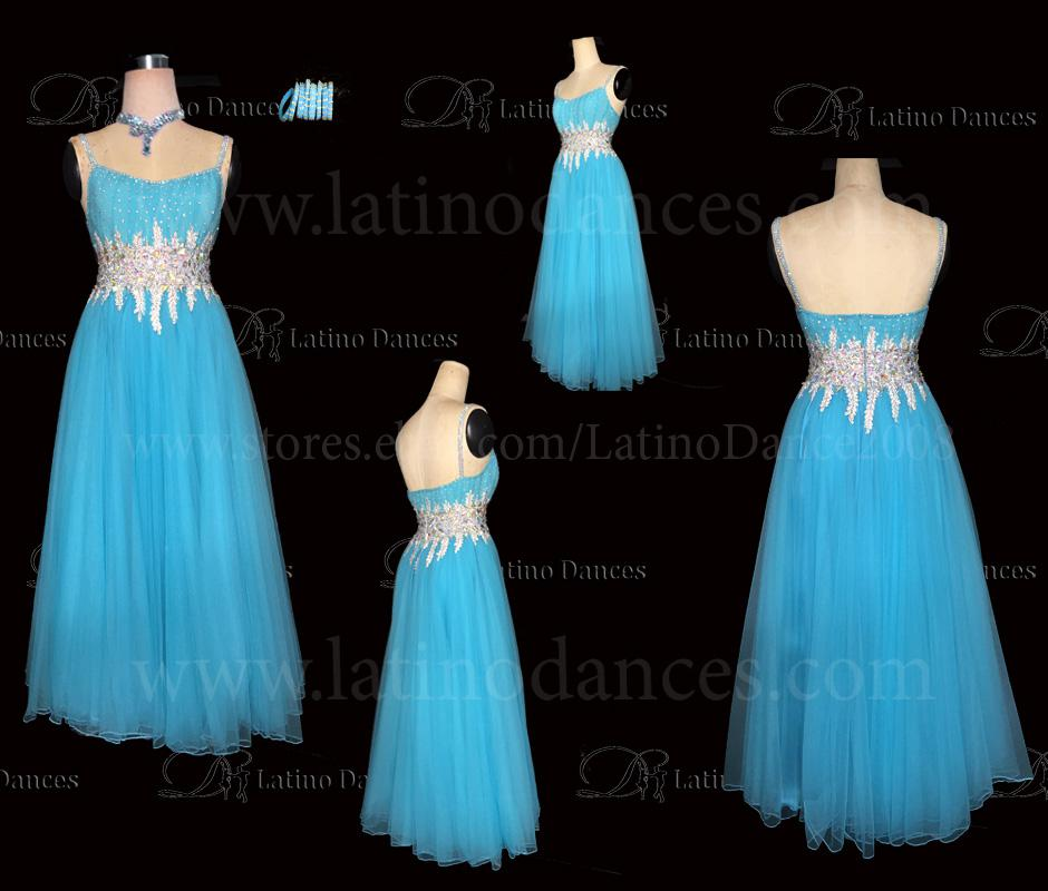 Ballroom Competition Smooth Dance Tailored Dress With High Quality stones ST242