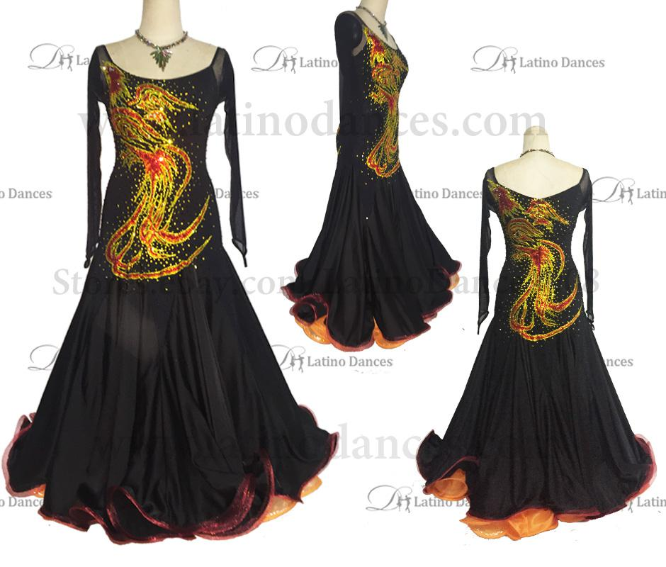 Ballroom Competition Smooth Dance Tailored Dress With High Quality stones ST243