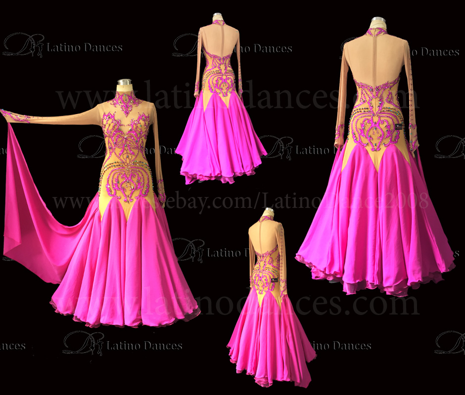 Ballroom Competition Smooth Dance Tailored Dress With High Quality stones ST244