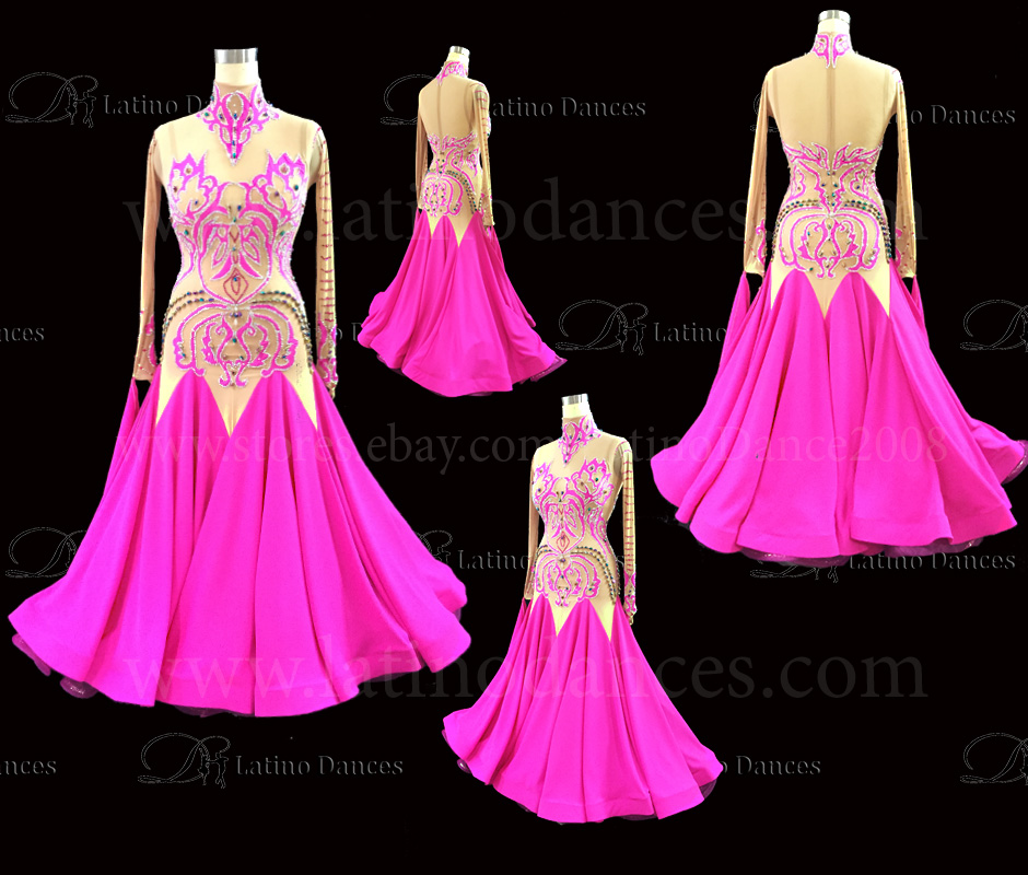 Ballroom Competition Smooth Dance Tailored Dress With High Quality stones ST244A