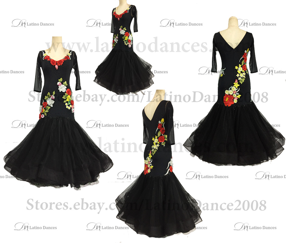 Ballroom Competition Smooth Dance Tailored Dress With High Quality stones ST246