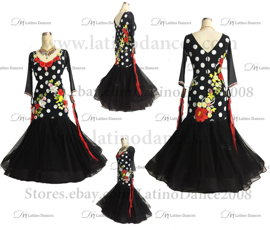 Ballroom Competition Smooth Dance Tailored Dress With High Quality stones ST246A