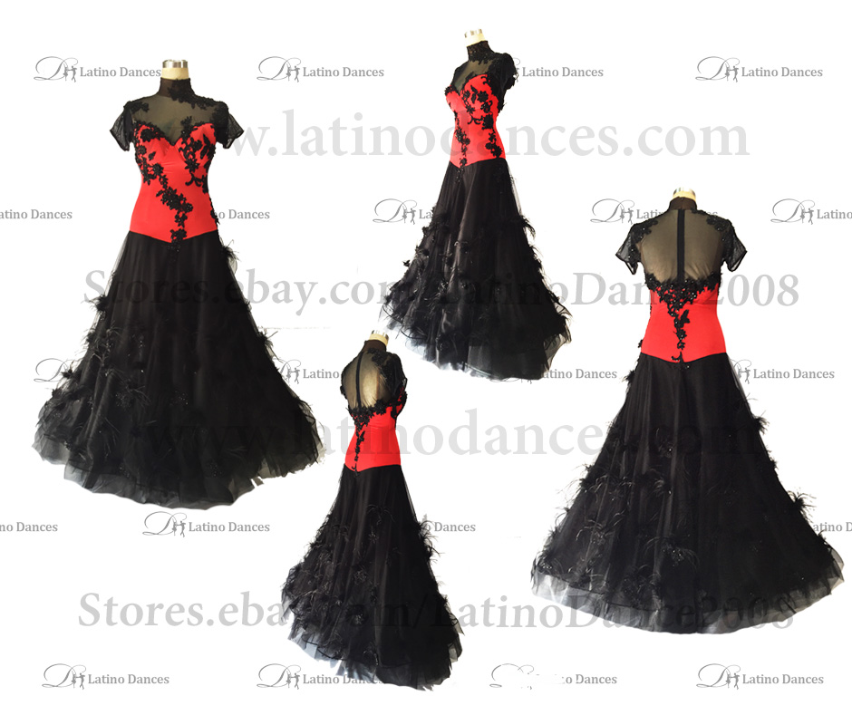 Ballroom Competition Smooth Dance Tailored Dress With High Quality stones ST247