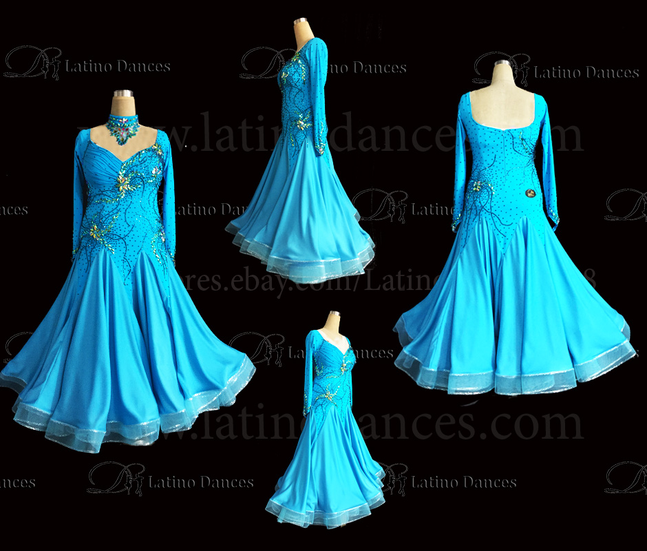 Ballroom Competition Smooth Dance Tailored Dress With High Quality stones ST249