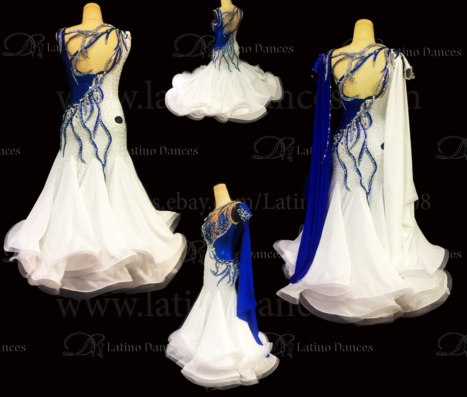Ballroom Competition Smooth Dance Tailored Dress With High Quality stones ST250