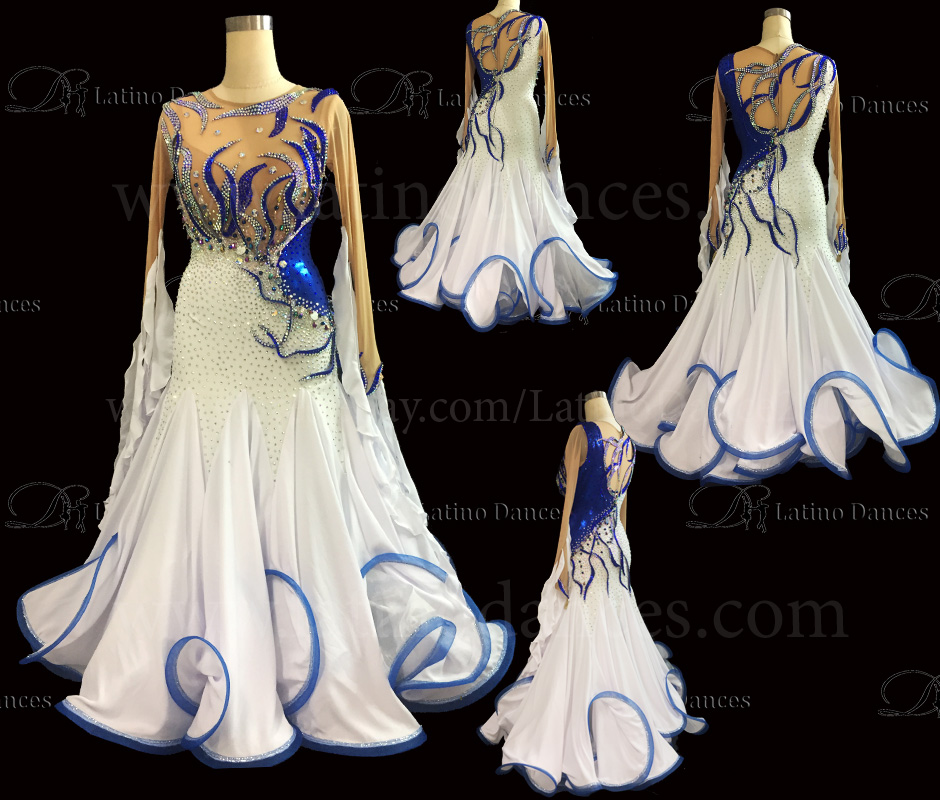 Ballroom Competition Smooth Dance Tailored Dress With High Quality stones ST250C
