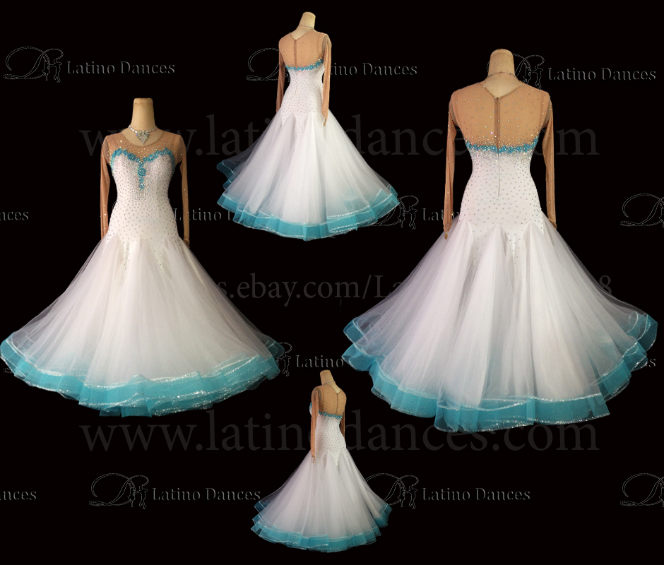 Ballroom Competition Smooth Dance Tailored Dress With High Quality stones ST251