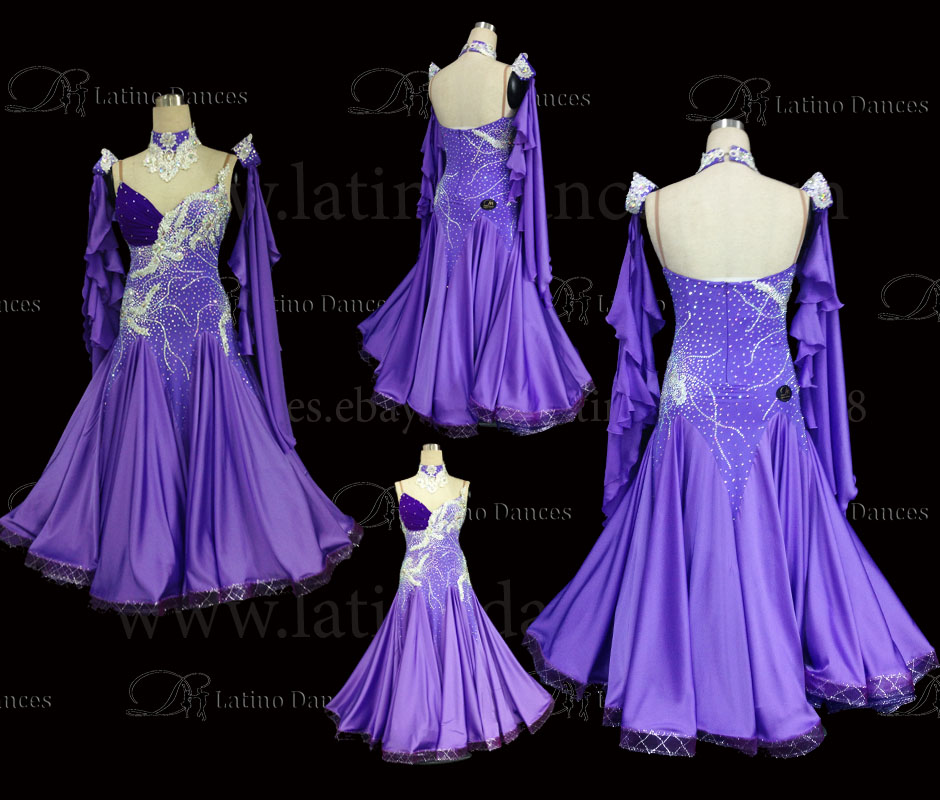 Ballroom Competition Smooth Dance Tailored Dress With High Quality stones ST252