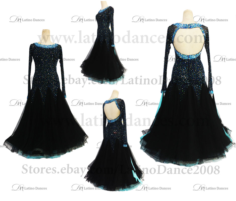 Ballroom Competition Smooth Dance Tailored Dress With High Quality stones ST253
