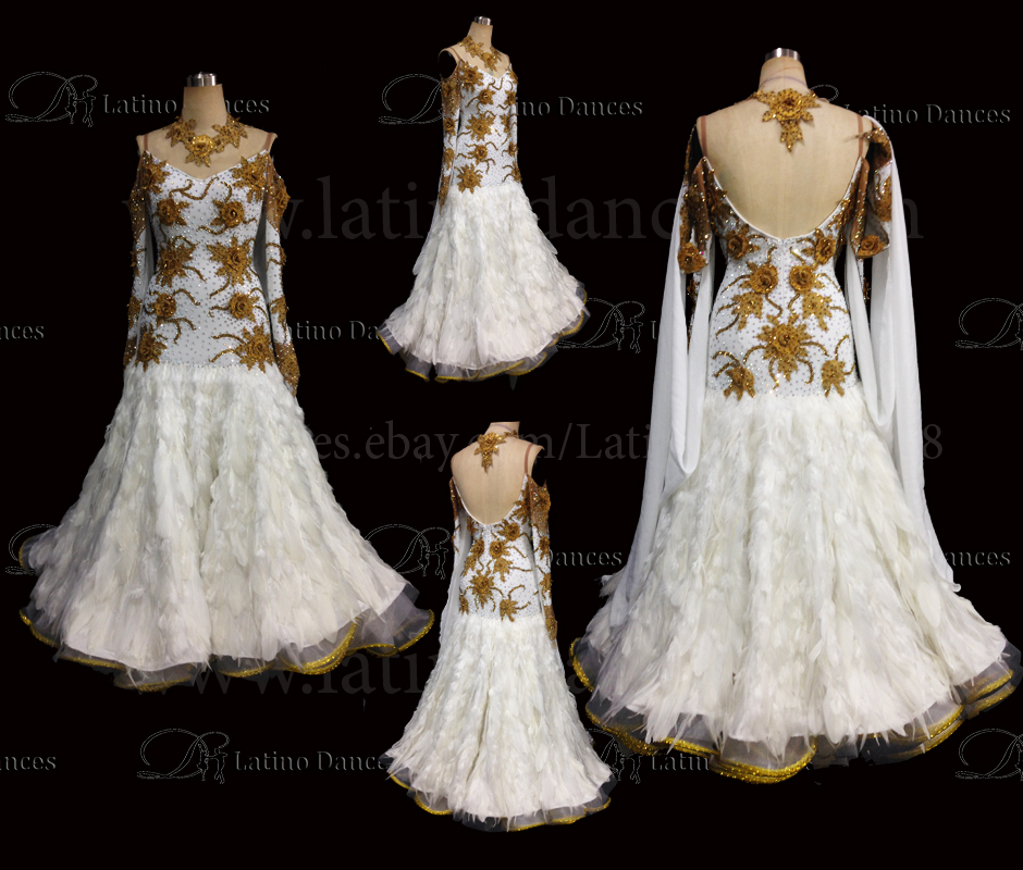 Ballroom Competition Smooth Dance Tailored Dress With High Quality stones ST254