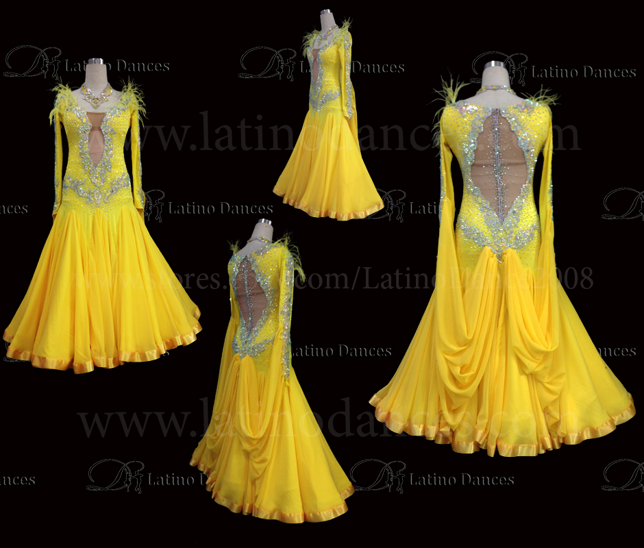 Ballroom Competition Smooth Dance Tailored Dress With High Quality stones ST255