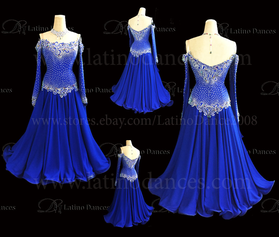 Ballroom Competition Smooth Dance Tailored Dress With High Quality stones ST258