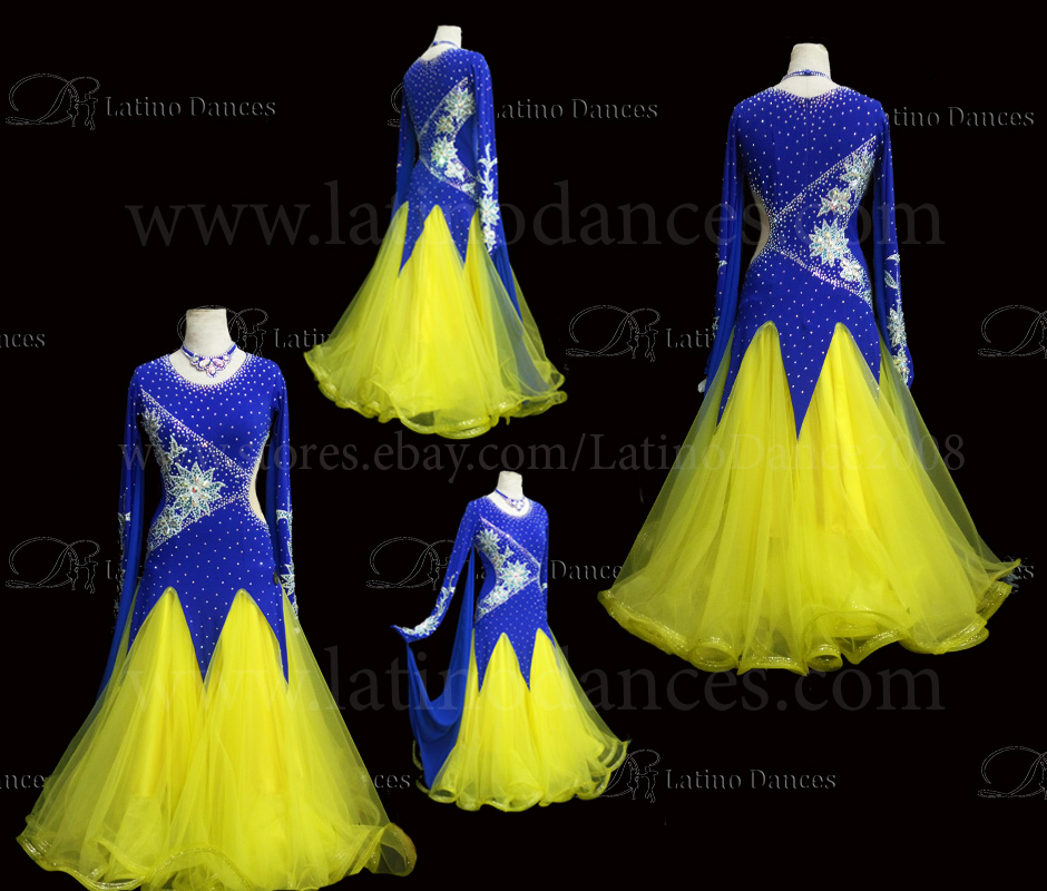 Ballroom Competition Smooth Dance Tailored Dress With High Quality stones ST269