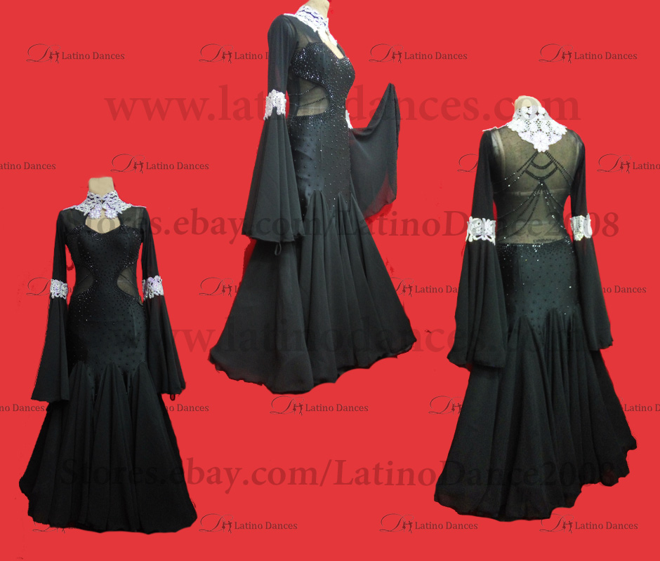 Ballroom Competition Smooth Dance Tailored Dress With High Quality stones ST270