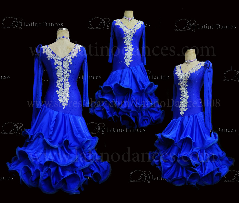 Ballroom Competition Smooth Dance Tailored Dress With High Quality stones ST272
