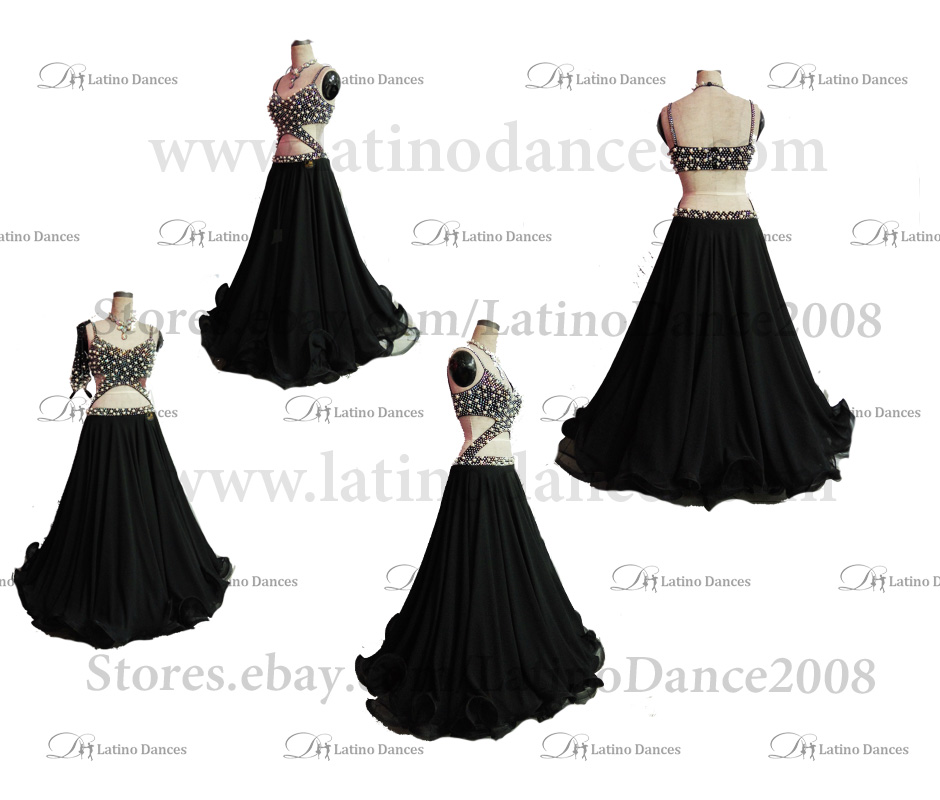 Ballroom Competition Smooth Dance Tailored Dress With High Quality stones ST273