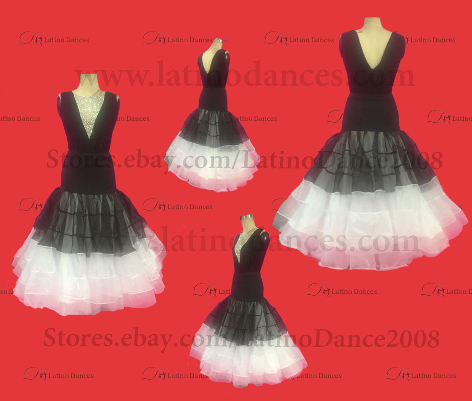 Ballroom Competition Smooth Dance Tailored Dress With High Quality stones ST276