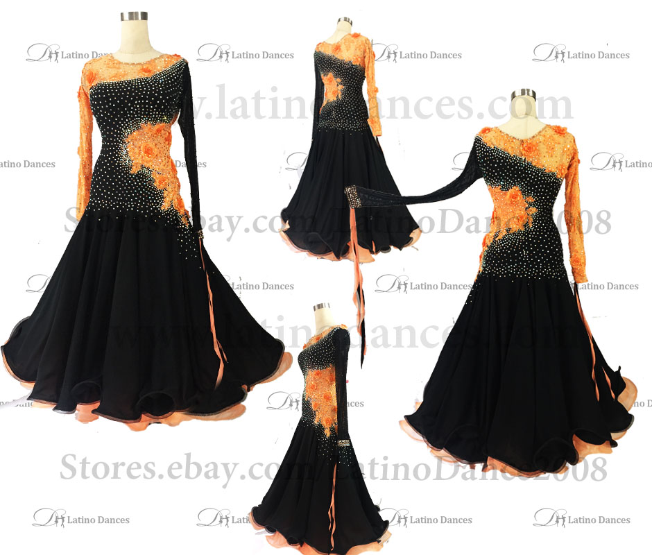 Ballroom Competition Smooth Dance Tailored Dress With High Quality stones ST274