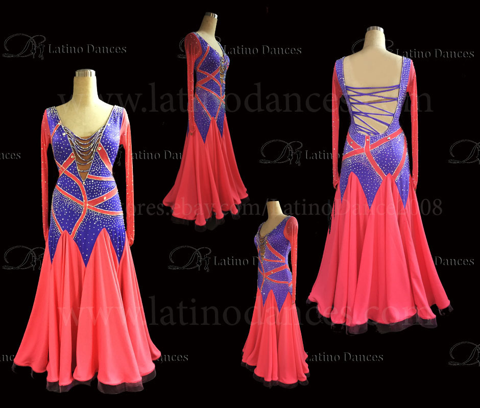 Ballroom Competition Smooth Dance Tailored Dress With High Quality stones ST275